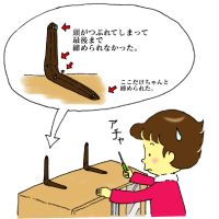 絵日記:家具を固定する!
