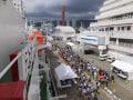 神戸中突堤で有人調査船「しんかい6500」と無人深海探査船「うらしま」を見学しました。 その1