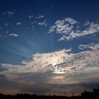 うろこ雲からの光芒!by 空倶楽部 & ぼくの・・・笑顔♪
