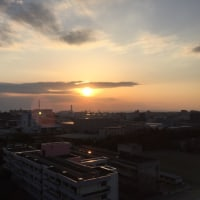 夕日はこんな感じで見えました。寒かったです。