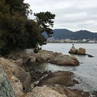 竹島に初詣