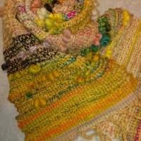 山の家から~~やっと一枚織りあがり