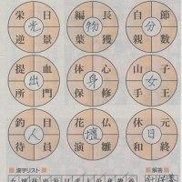 漢字パズルの解答