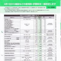 公民館など使用料が又値上げ(4月から)