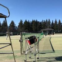 野川公園 テニス初打ち