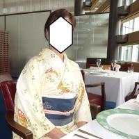 フランス料理のランチに着物を着ました~