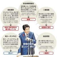 安保関連法・二重国籍・・・首相答弁を 「ファクトチェック」 (朝日新聞)