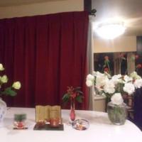 シャンソン歌手リリ・レイLILI LEY  新年のブラボー花達が稽古場に登場