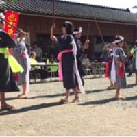 紫尾温泉祭り「片平棒踊り」披露