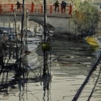 「 佃島の運河 1 」