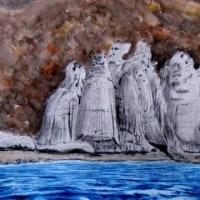 下北半島 仏ヶ浦(天龍岩あたりを観光船から)