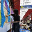 大須の街中のあちらこちらに登場する芸術作品