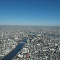 1月の東京スカイツリー:フロア450より北東~東方向(曳舟駅~京成立石駅)