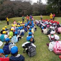 岩本山観察会:雨が降って来ましたので草笛名人の草笛演奏で〆ました。