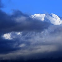 富士山 生活用水汲みに...  忍野:内野原野