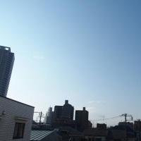 今朝(2月17日)の東京のお天気:晴れ、(2月の作品:祈りの像)