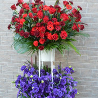 ハート型のスタンド花
