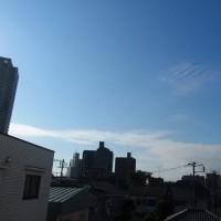 今朝の東京のお天気:晴れ