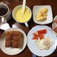 朝飯。食べました。
