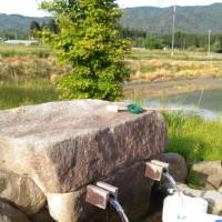 水汲みと月岡温泉浪速屋