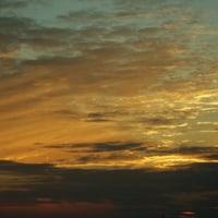 朝と夕の空