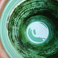 メダカの鉢の掃除