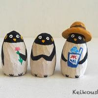ねこ雛人形とペンギン 完成