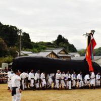 今治市菊間町の加茂神社のお供馬の走り込み (その3)