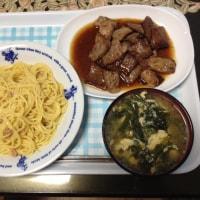 今日の夕飯は肉!