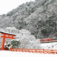 雪の叡電を行く(3)