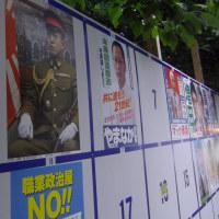皇居前に、軍服姿で、名も政策もない男性のポスターが張られる事態が発生 東京都内一部