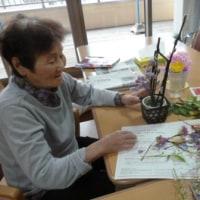 お誕生日と生け花♪