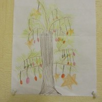 ママがもらったツリーの絵