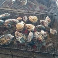 焼き牡蠣の食べ方