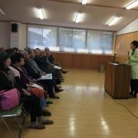 「元気もらえた」もとむら伸子・国会報告会開催・・・・・・