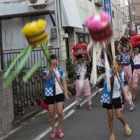 夏祭り獅子舞傘踊り奉納