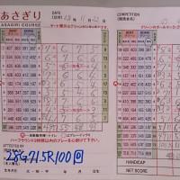 今日のゴルフ挑戦記(73)/新千葉CC「あさぎり」イン→アウト(コーライ)
