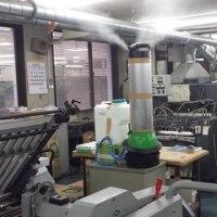 遠心式加湿器 MT5500型 TL5500型 印刷会社実用例 静電気防止対策