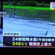 7/24 東京の水不足 秋田のこの洪水