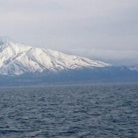 美しい雪の利尻富士