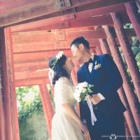 鳥居とウエディングドレスと @祐徳稲荷神社で前撮りロケーションフォト pre-wedding in 祐徳稲荷神社