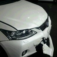 お得意様からの事故報告入電!急いで事故現場へ被害車両の引取りへ!