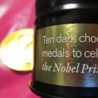お土産に頂いたノーベル賞メダルチョコレート