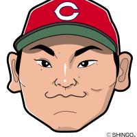 カープ応援ボード用似顔絵(田中、菊池、丸、中崎)作ってみました。