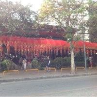 ターペー門から3人の王様像広場へ、チェンマイ