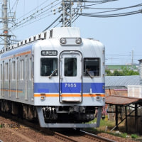 南海 井原里(2014.6.14) 7055F+7139F 普通 関西空港行き