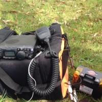 琵琶湖岸で無線運用 ②50MHzアンテナ失敗