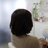 毛先の傷みが気になるから医療用ウィッグをロングスタイルからミディアムスタイルにカット。 長野県 乳癌 抗癌剤治療 医療用ウィッグ・医療用かつら by ヘアーサロン オオネダ