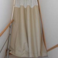 カーテンはぎれ箱と冷気除けカーテン