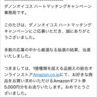 Amazonギフト券  5,000円分  【当選】
